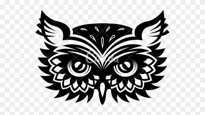 Horned Owl Clipart Icon