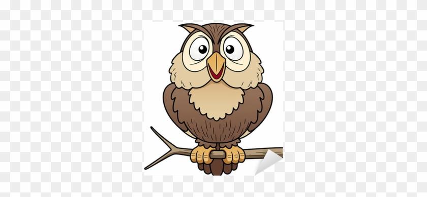 Illustration Of Cartoon Owl Sitting On Tree Branch - Cartoon Picture Of Owl #940262