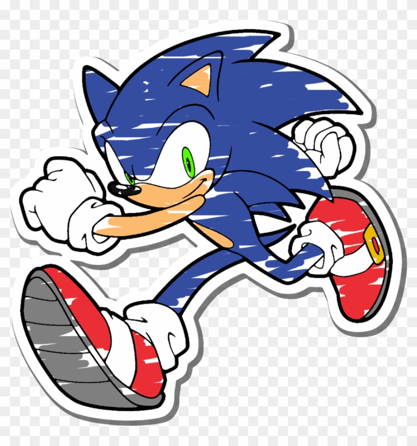 Sticker Sonic By Lunicaura106 Sonic The Hedgehog Coloring Pages Free Transparent Png Clipart Images Download