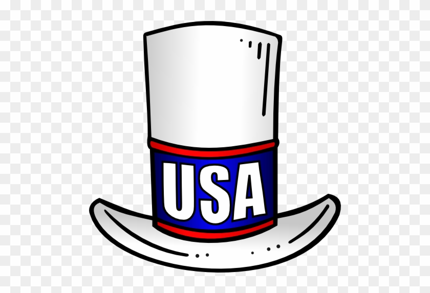 Patriotic Usa Top Hat Clip Art A Variation Of The Uncle - American Top Hat Png #941957