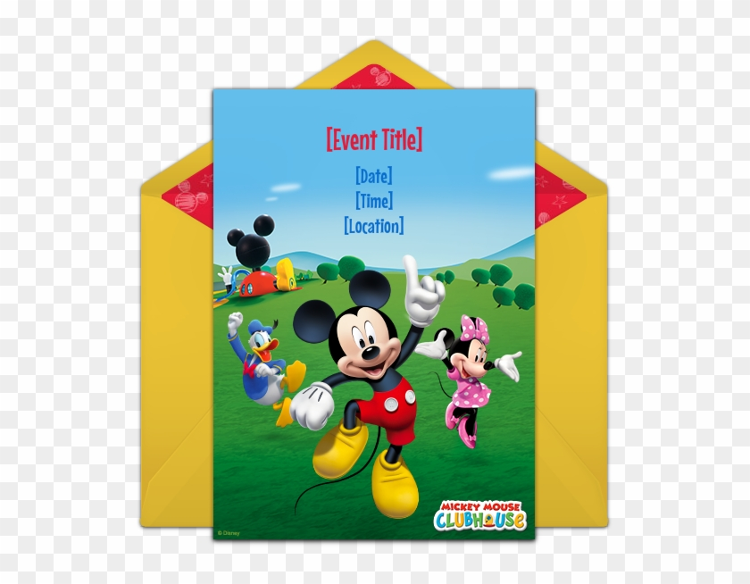 Customizable Free Mickey Mouse Clubhouse Online Invitations Disney Junior 3 Piece