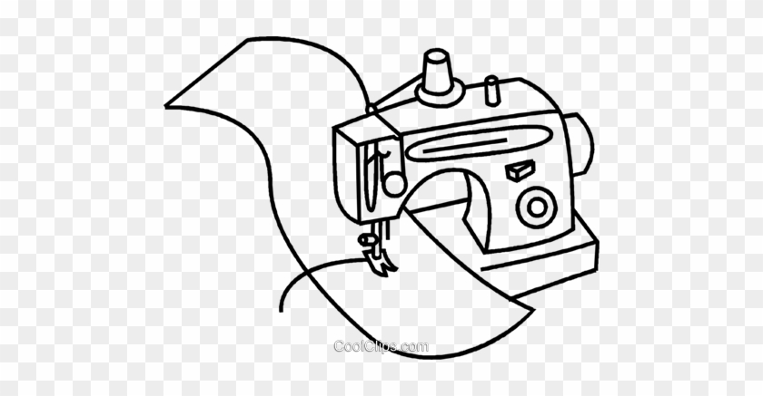 Sewing Machine With Material Royalty Free Vector Clip Sewing Fascinating Sewing Machine Clip Art Free