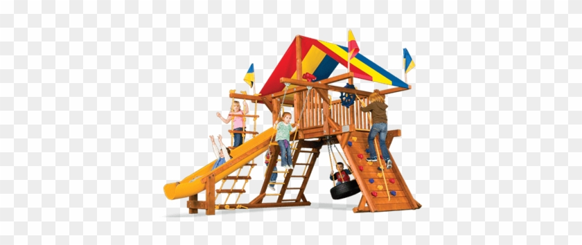 Castle Style Packages - Rainbow Swing Set #943293