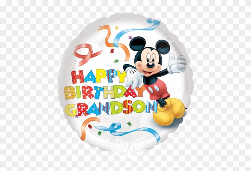 18 Mickey Mouse Happy Birthday Grandson Foil Balloon