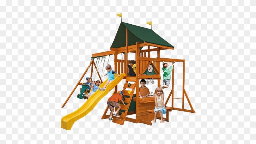 Laurentian Swingset & Kitchenette By Cedar Summit - Cedar Summit Laurentian Wooden Swing Set #943559