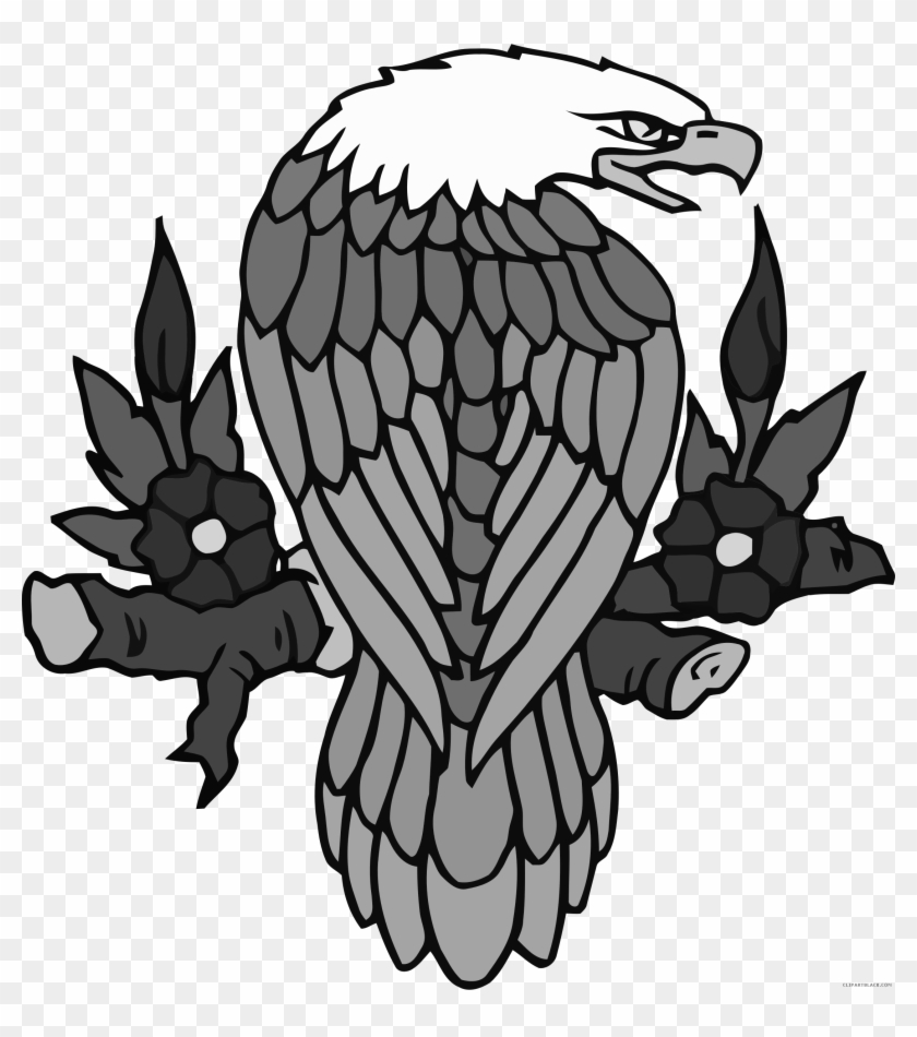 Bald Eagle Animal Free Black White Clipart Images Clipartblack