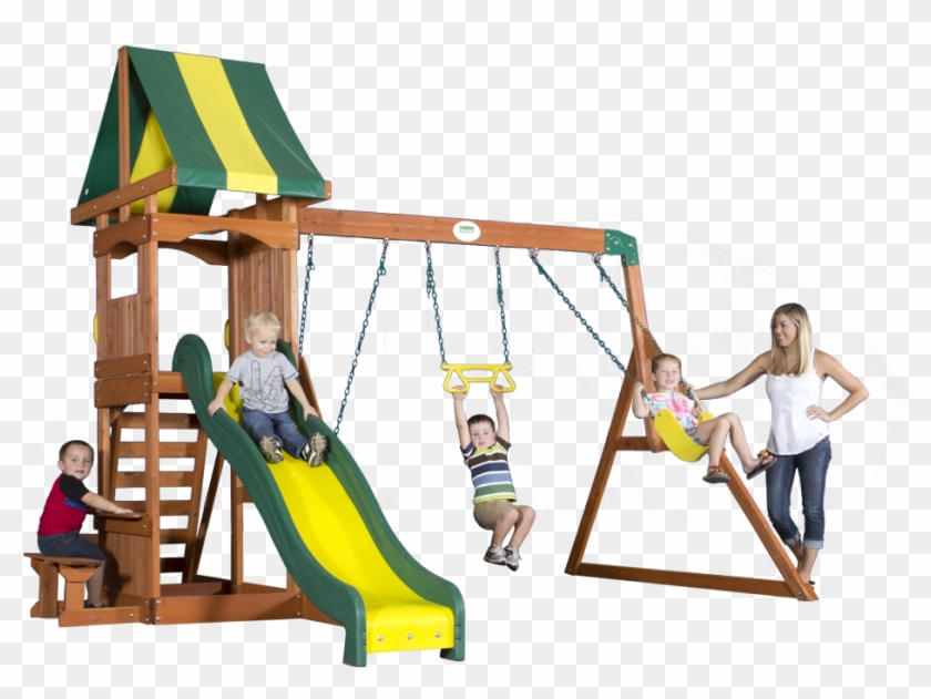 Backyard Discovery Swing Set Instructions - Backyard Discovery Peninsula All Cedar Swing Set, Yellow #944097