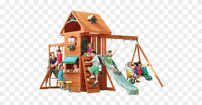 Ridgeview Clubhouse Deluxe Play Structure - Big Backyard - Ridgeview Clubhouse Swing Set #944105