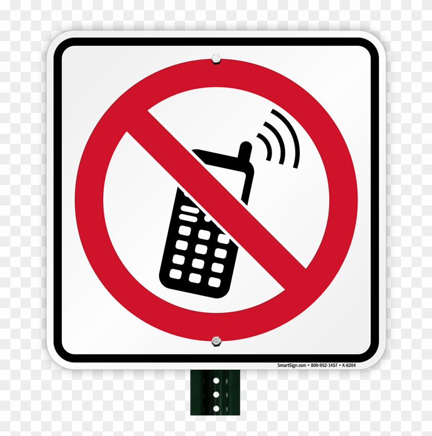 No Cell Phone Symbol Sign Accidents Due To Mobile Phones Free