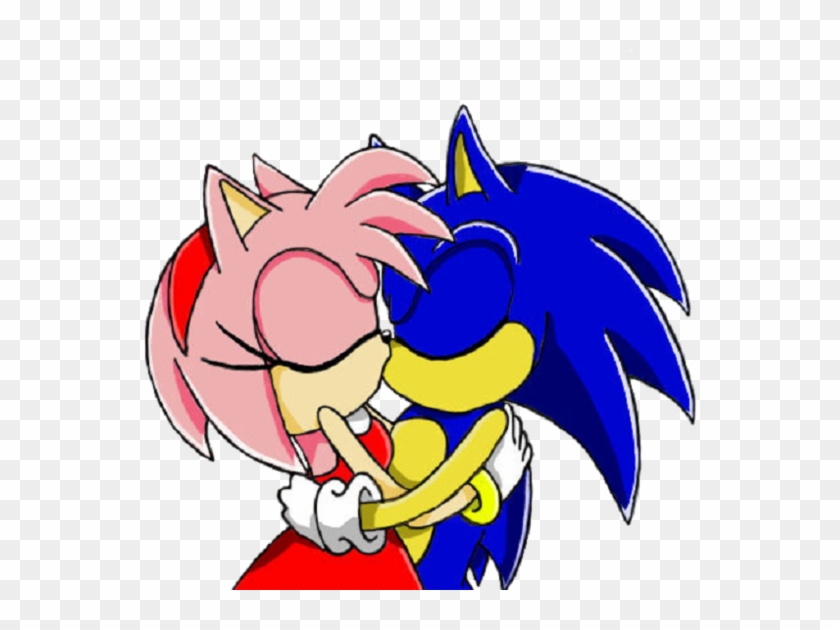 Amy Rose Shadow The Hedgehog Sonic The Hedgehog Kiss Sonic And Amy Kiss Free Transparent Png Clipart Images Download