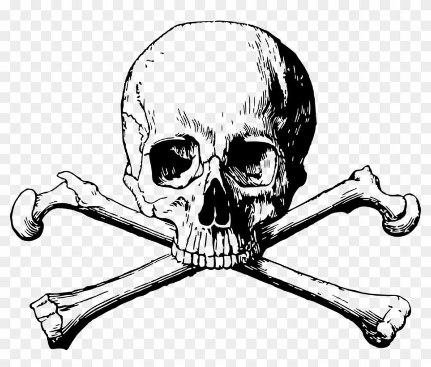 Skull And Cross Bones Png #945682