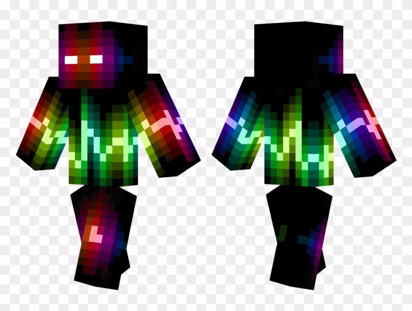 Drawn Minecraft Rainbow Creeper Pixel Gun 3d Cool Skins Free Transparent Png Clipart Images Download