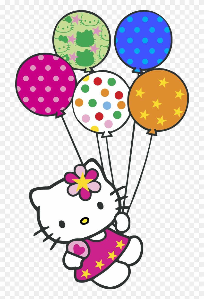 Hello Kitty Balloons Logo Vector Graphic Hello Kitty Happy Birthday Wishes Free Transparent Png Clipart Images Download