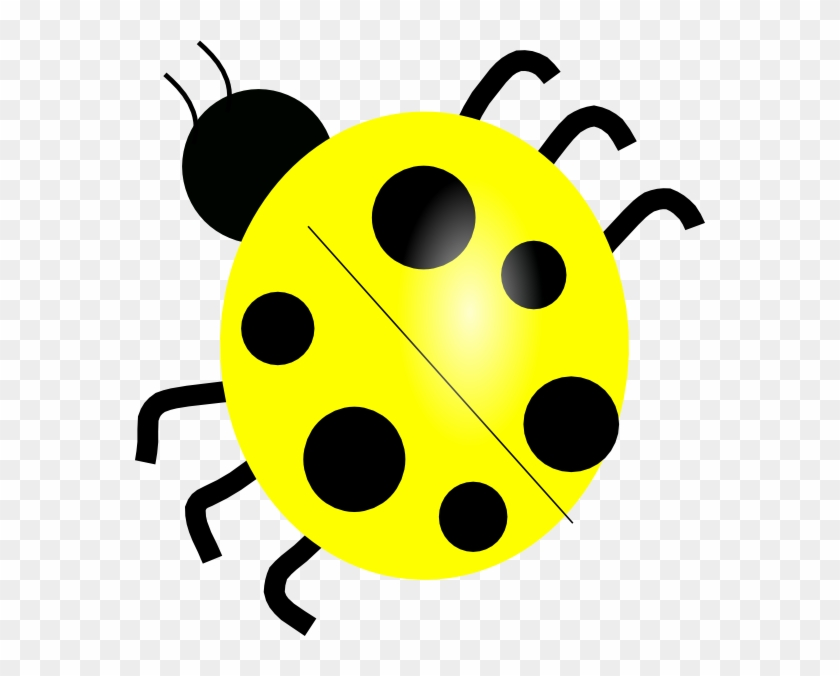 Yellow Ladybug Clip Art At Clker - Lady Bug Black And White #946787