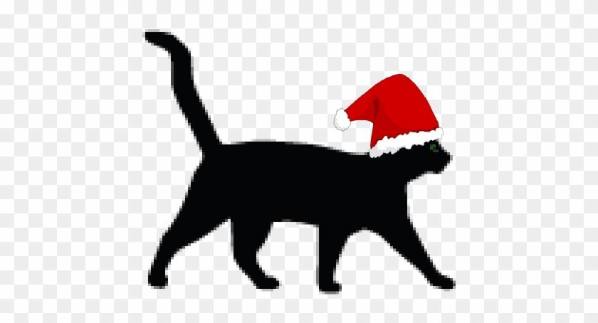 Christmas Cat Clip Art Free Transparent Png Clipart Images Download
