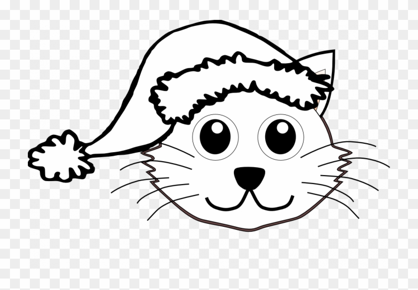 christmas cat coloring pages santa face clip art black cat face images black and white