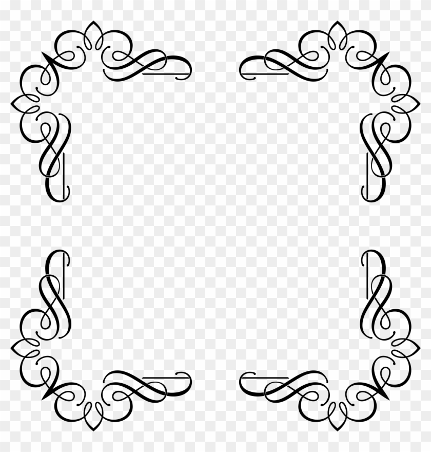 Big Image - Black Designs Png Frames Fancy - Free Transparent PNG ...