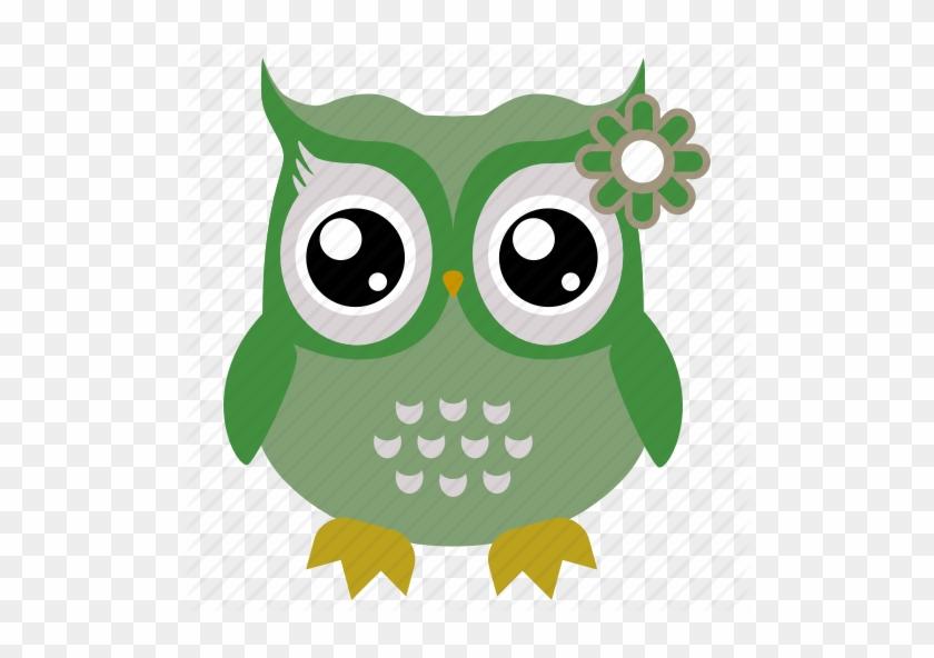 Cute Owl Flat Icons - Owl Icon #948543