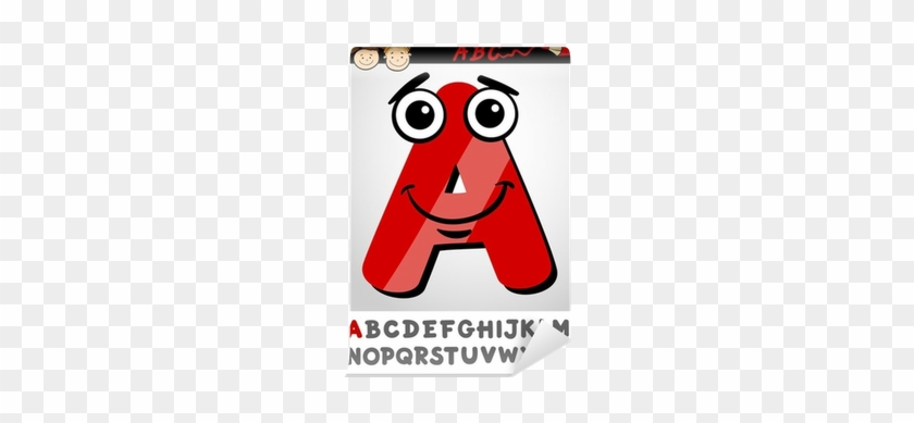 Funny Letter A Cartoon Illustration Wall Mural • Pixers® - Cartoon Alphabet Of Capital Letter #950933