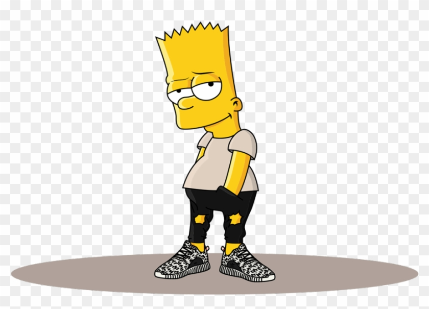 Adidas Clipart Cartoon Bart Simpson Supreme Free