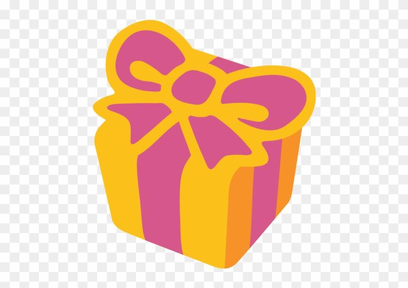 Birthday Present Clipart Orange