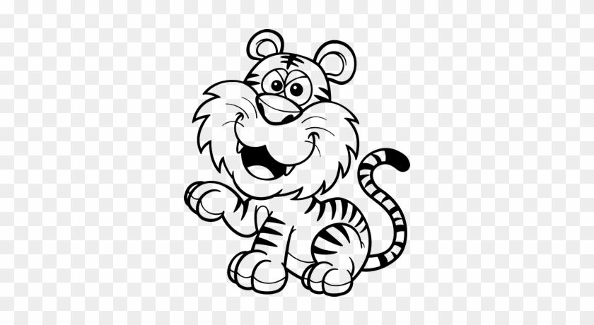 Cachorros De Tigres Para Colorear - Mono Y Tigre Para Colorear ...