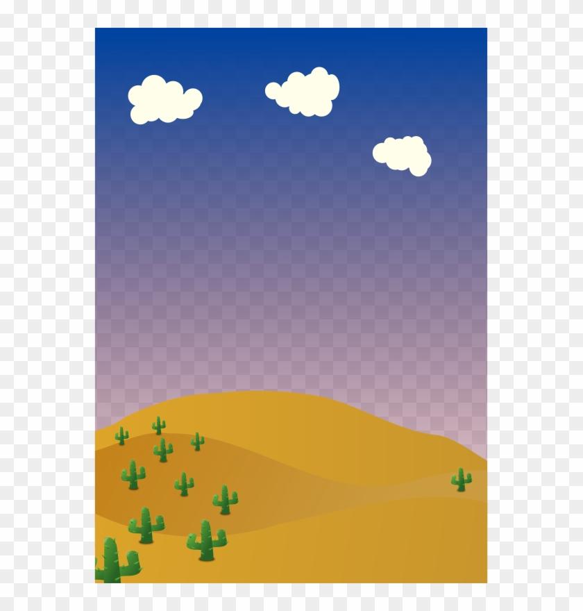 Cartoon Desert Background Desert Background Clipart Free