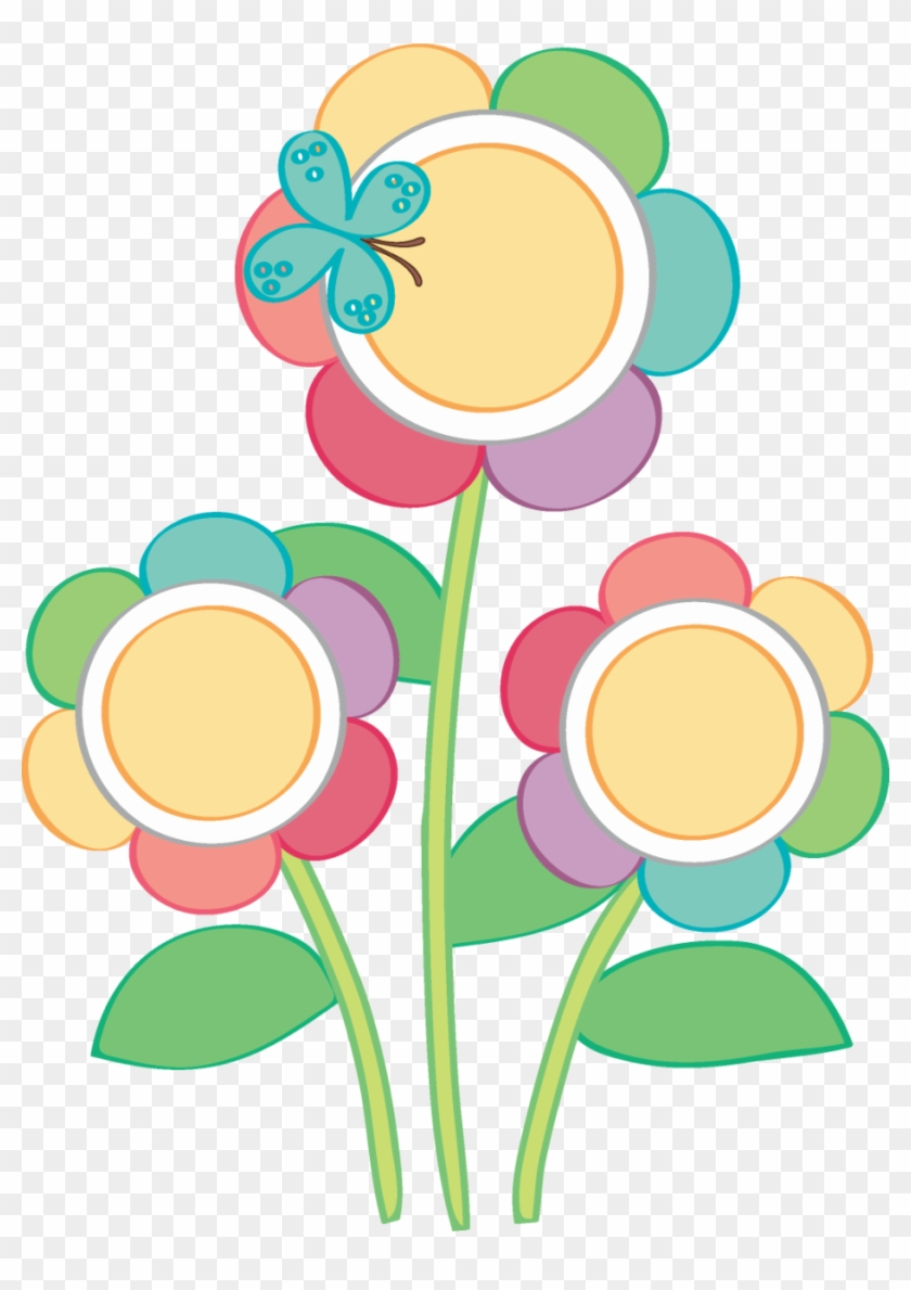 Birthday Clipart, Birthday Cakes, Cake Clipart, Flower - Flores Y Buhos Dibujo Png #169953