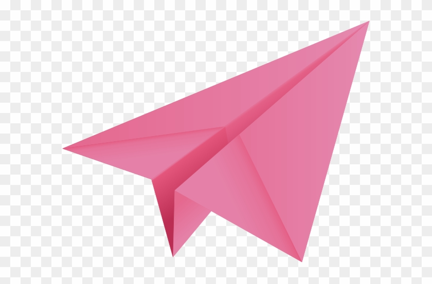 Clipart Info - Pink Paper Airplane Clipart #169987