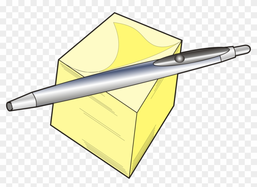 Pen And Pad - Office Supply Clip Art #169995