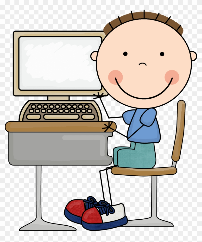 Computer Class Clipart For Kids - Work On Computer Daily 5 #170000