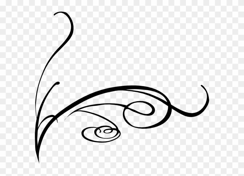 Corner Swirls Clipart Free Images - Vector Line Art Png #170115