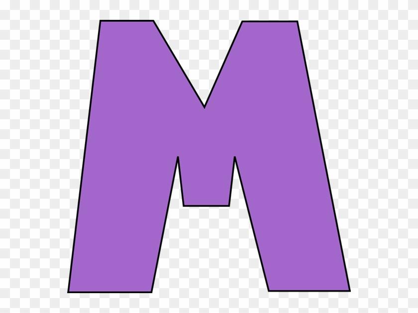 Purple Letter M Clip Art - Letter M Clipart Free #170153