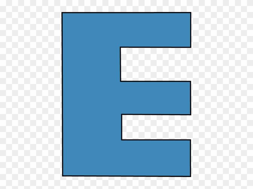 Blue Alphabet Letter E Clip Art - Capital Letter E Clipart #170165