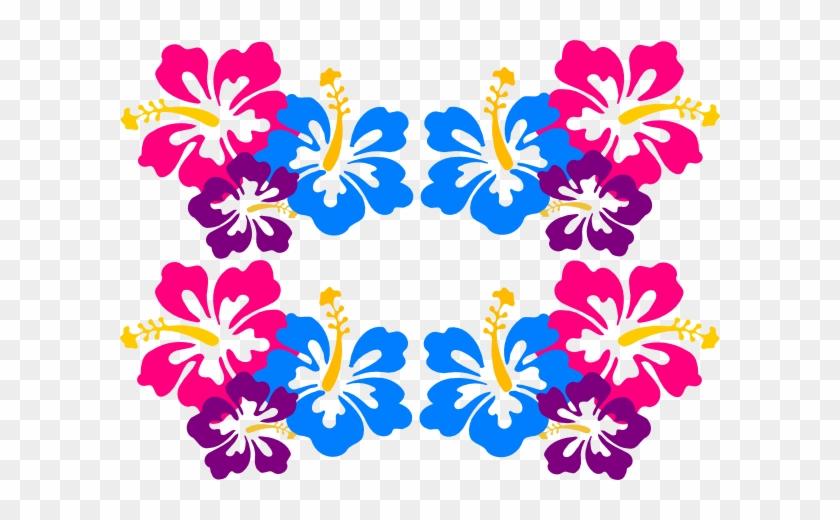 Free Luau Clip Art Clipart - Hawaiian Flowers Border Clip Art #170262