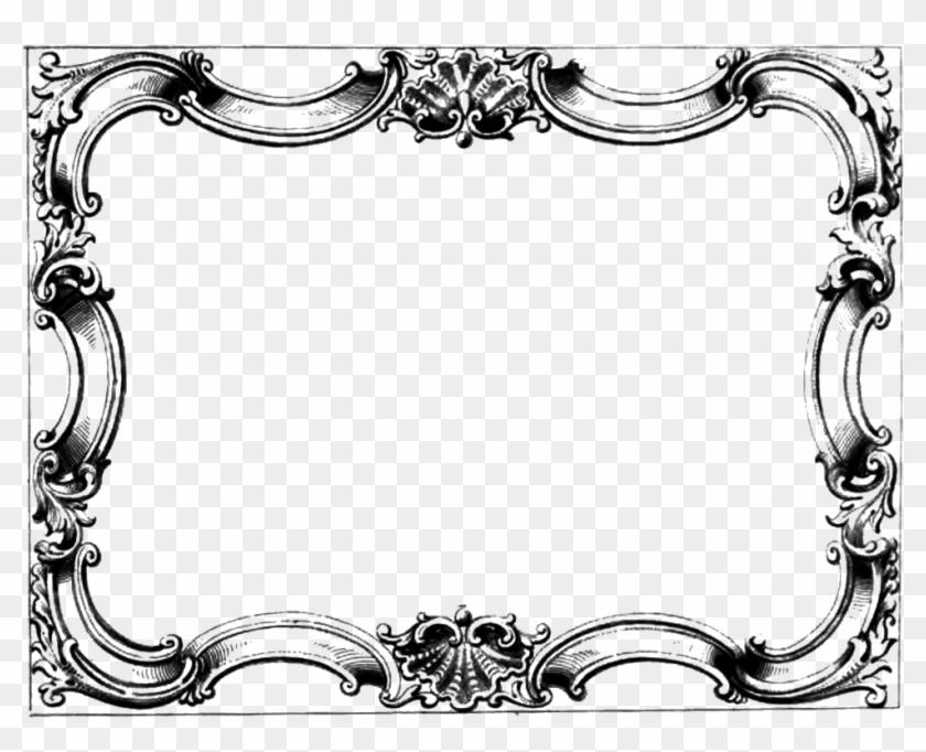 Border Frame Victorian Inside Old Border Cliparts Victorian Frame Png Free Transparent