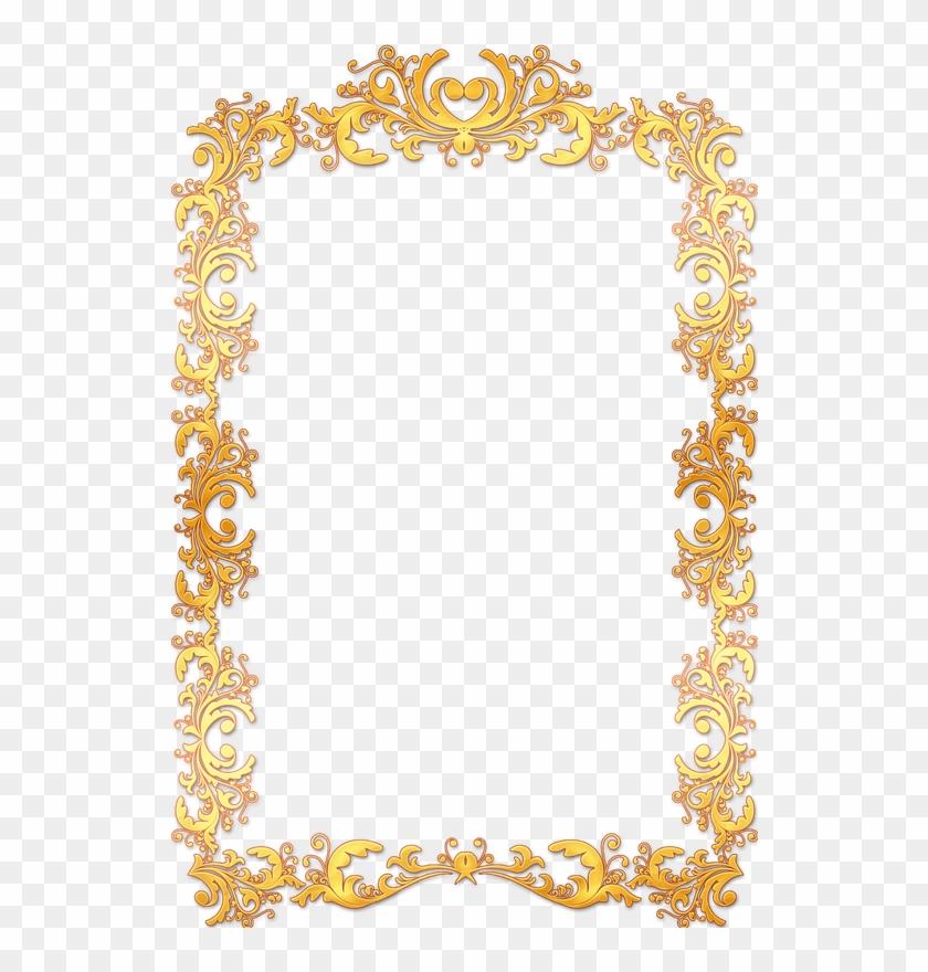 Frame Vintage Gold Ornate - Gold Vintage Frame Border Png #170603