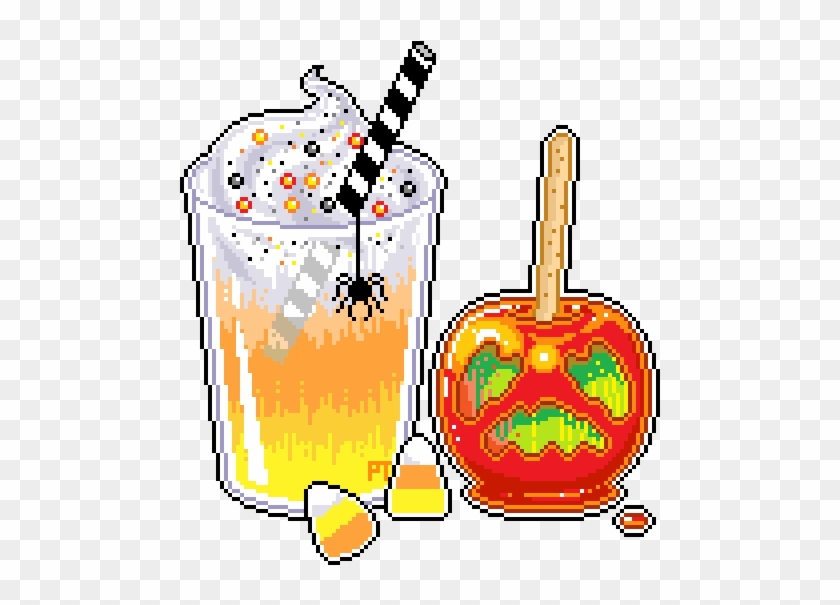 Eating All The Toffee Then Throwing The Mushy Apple - Halloween Cute Pixel #170733