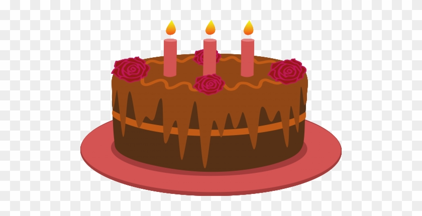 Chocolate Birthday Cake With Candles Chocolate Birthday Cake Cartoon Free Transparent Png Clipart Images Download