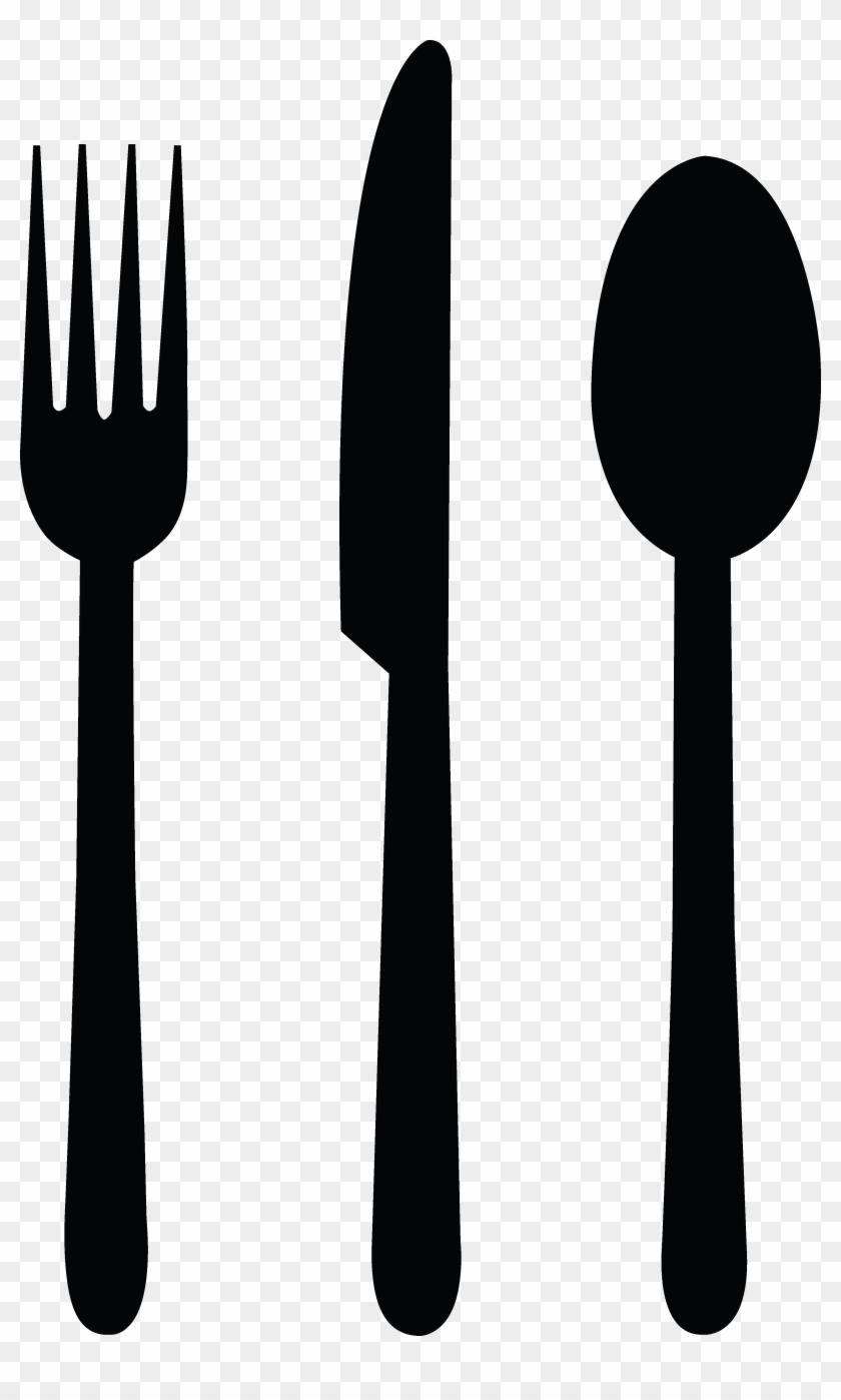 Fork Clipart - Fork Spoon Knife Clipart #170829