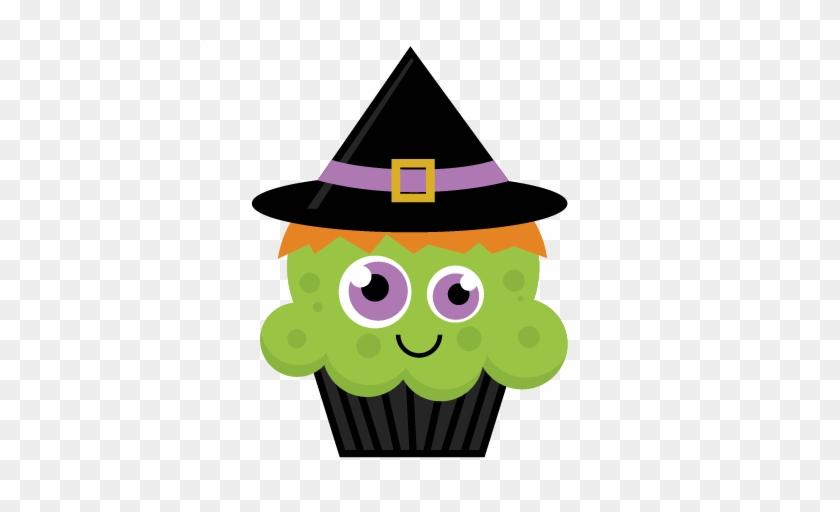 Witch Cupcake Svg Cut File Halloween Svg Cut Files - Halloween Cupcake Clipart #170870
