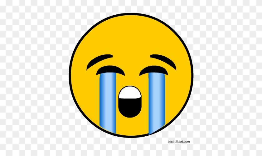 Crying Emoji, Free Clip Art - Frosted Window Transfer Mandatory Symbol #170872