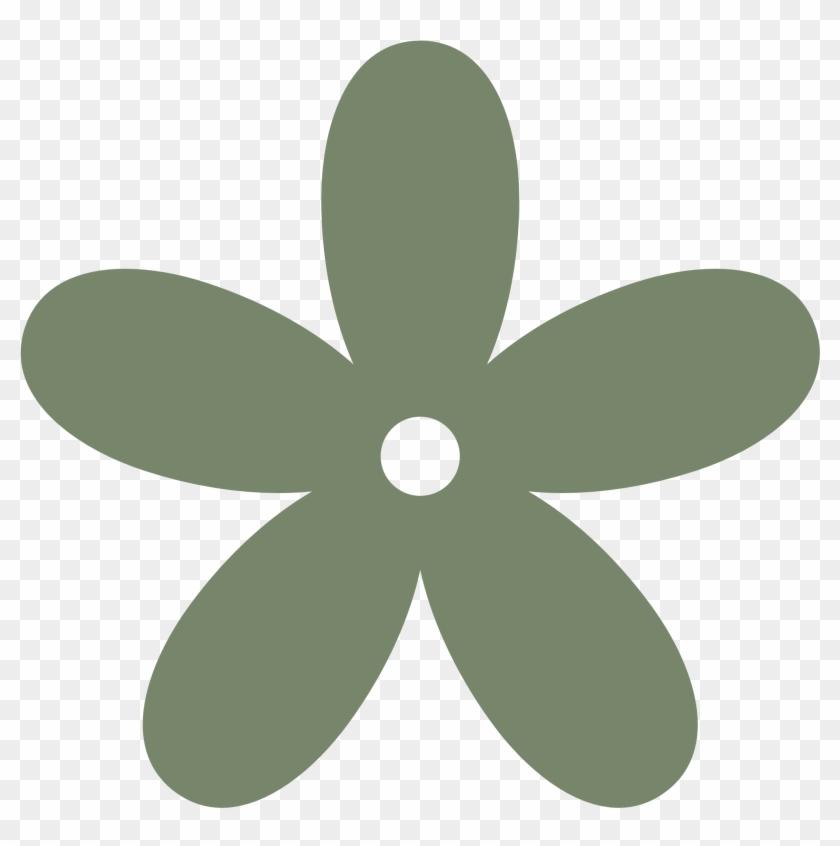 Retro Flower 8 Color Colour Camouflage Green Peace - Flower Clipart Png #170882