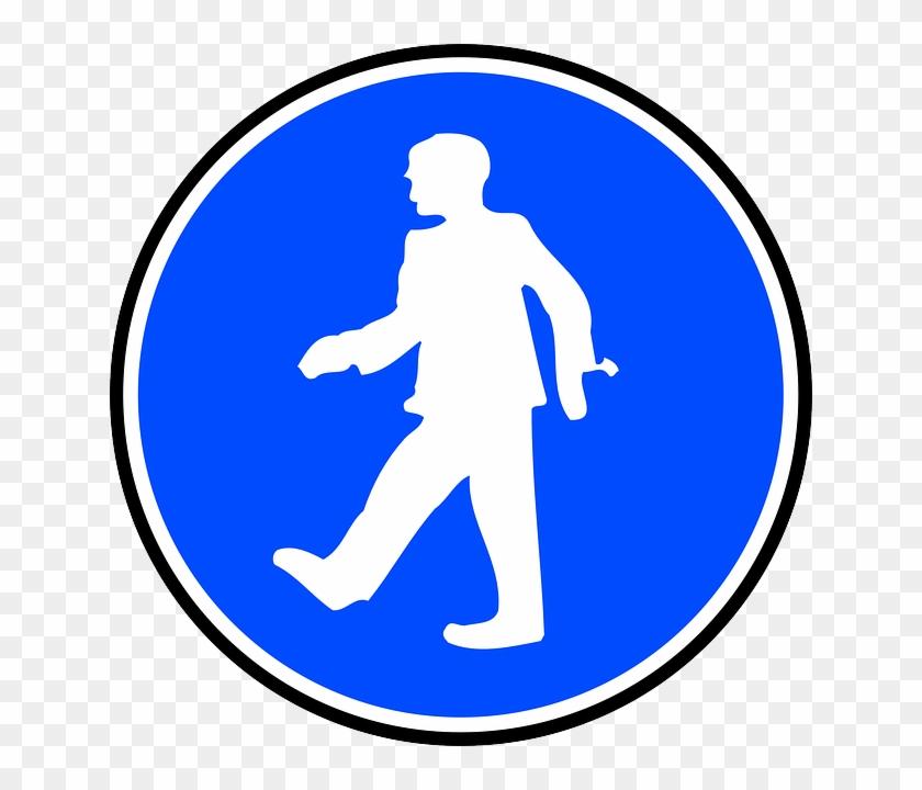 Mandatory Walking Clip Art - Safety Harness Clip Art #170897
