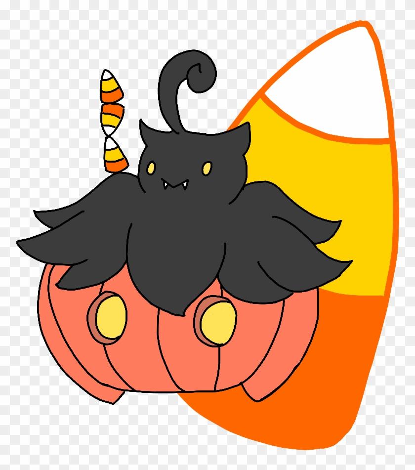 Pumpkaboo With Candy Corn By Starlitmoth - Cartoon #170926