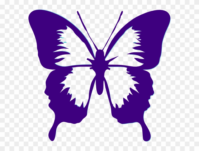 Butterfly Clip Art - Butterfly Black And White Clipart #170925