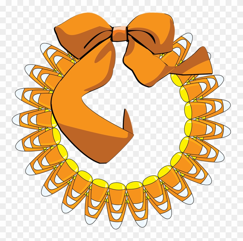 Candy Corn Wreath - Candy Corn Letter Clipart #171033