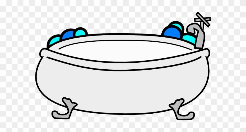 Bathtub With Bubbles Clip Art At Clker - Bathtub Clip Art #171060