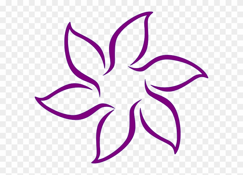 Purple Flowers Clipart Free Download Clip Art Free Black And White