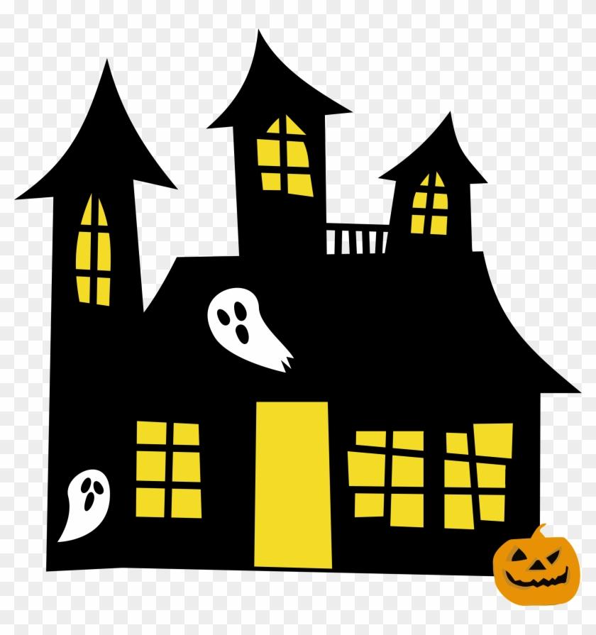 Big Image - Clip Art Haunted House #171113